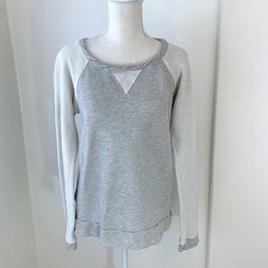 Anthropologie t.la Gray French Terry Pullover {LH}